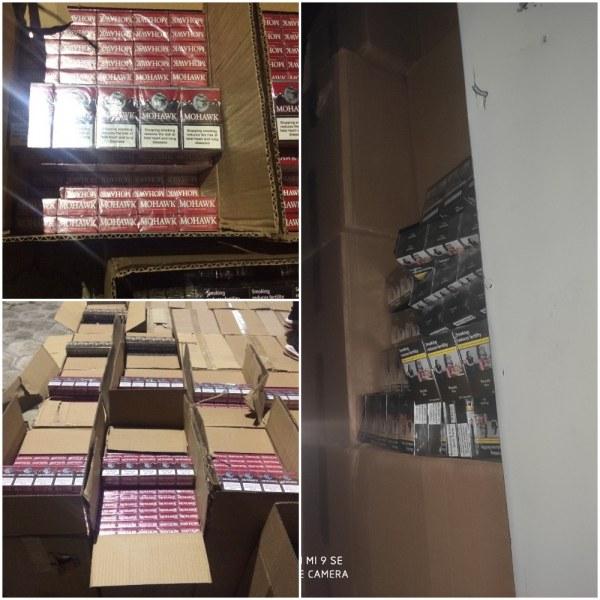 Отриха 50 мастербокса цигари в тайник на ТИР, двама са задържани