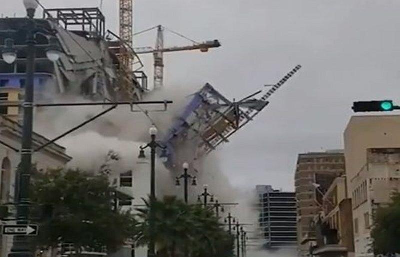 Един загина и трима са в неизвестност след срутване на хотел в Ню Орлиънс