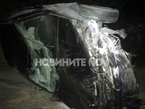 Кола се преобърна на пътя София-Бургас! Двама са в болница