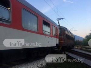 Локомотив блъсна влекач в Каспичан, има пострадали
