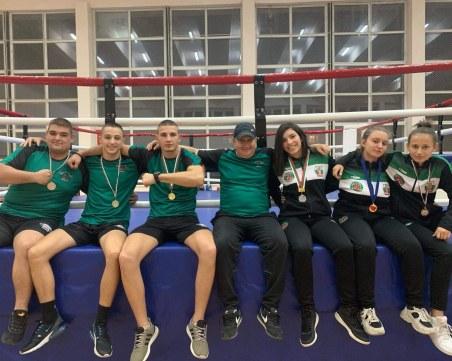 Боксьорите на Първенец с пълен комплект медали