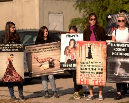 Природозащитници стоят цяла седмица в клетка пред парламента против фермите за кожи