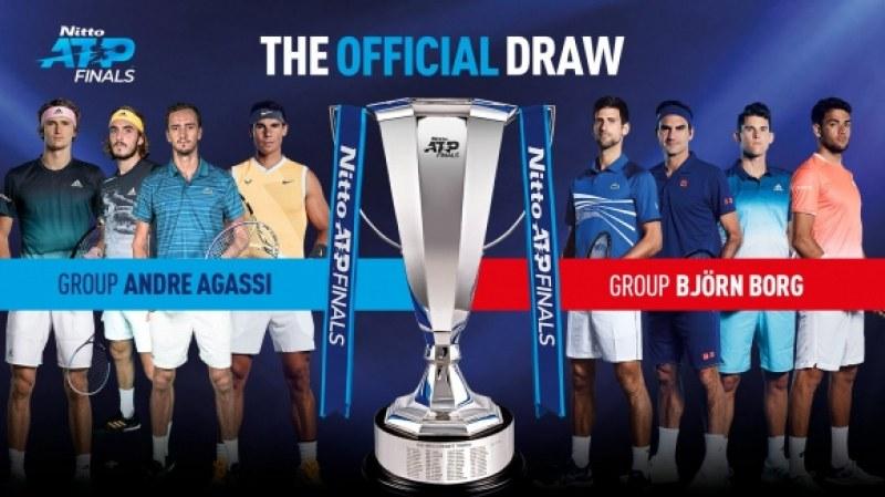 Джокович и Федерер в една група на финалния турнир в Лондон