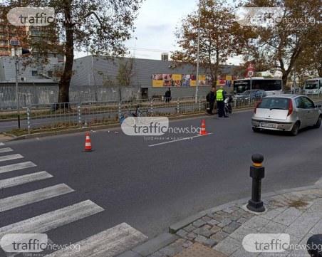 Мотор блъсна пийнал велосипедист на пловдивски булевард, пострадалият е в болница