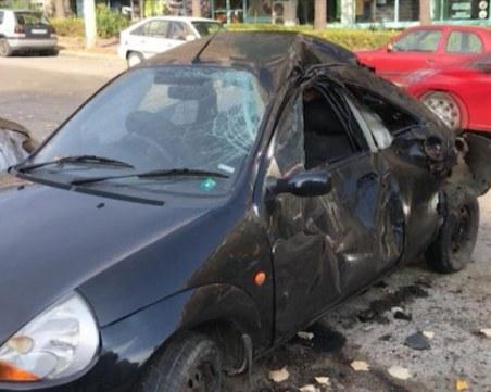 Млад шофьор удари 4 паркирани коли