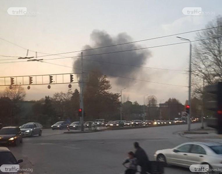 Черен дим застели Пловдив! Пак ли горят гуми в махалата?