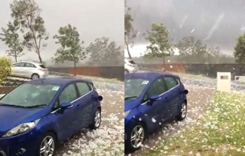 Градушка с големината на голф топки удари Австралия след огромните пожари