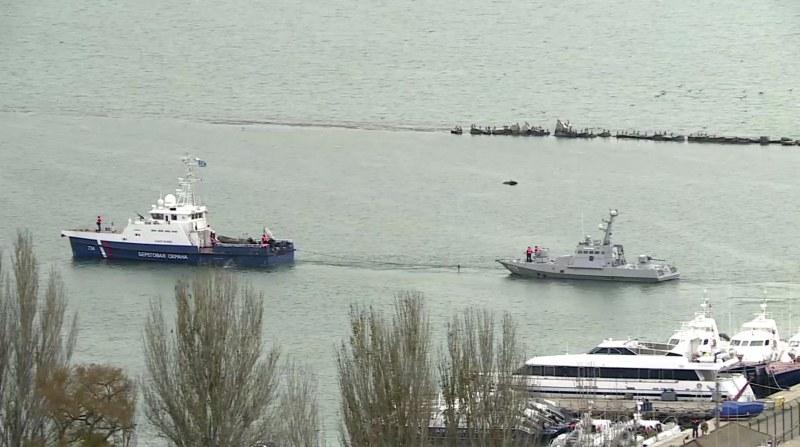 Русия предаде на Украйна трите задържани кораба