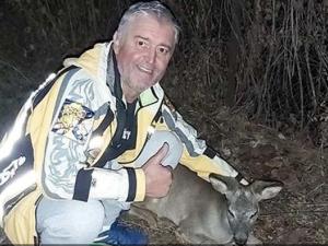 Добро дело! Мъж спаси еленче, нападнато от глутница кучета