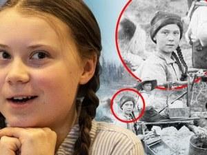 Коснпирация: Грета Тунберг пътува във времето, намериха снимка от преди 120 години