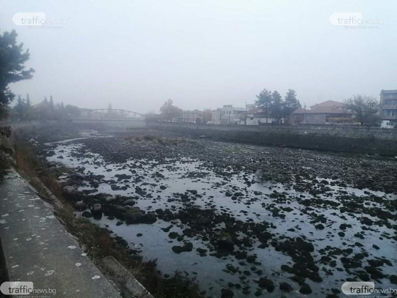 Река Въча в Кричим пресъхна