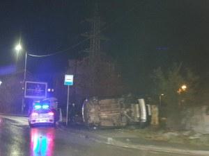 Обърнати две коли запушиха в час пик Симеоновско шосе в София