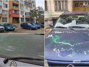 Вандали омазаха със зелена боя 6 коли в столичния квартал