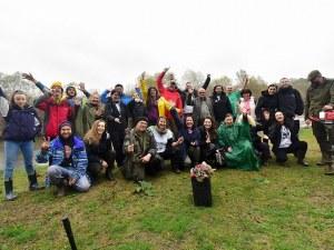 Първите фиданки от новата гора край Марица вече са положени в земята