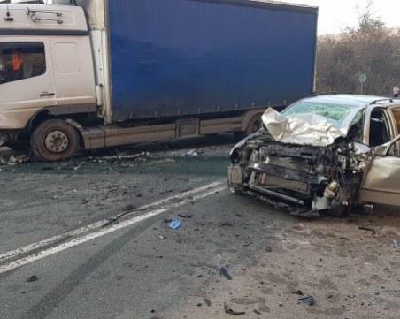 Тежка катастрофа на главен път Е-79! Жена е загинала