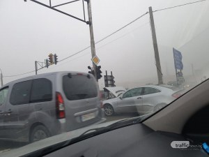 Катастрофа затруднява движението по Околовръстния път в София