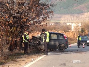Силно приклещен е открит мъжът, загинал в катастрофата край Пловдив
