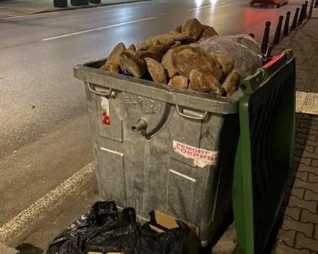 Купища пресен хляб от столична пекарна в кофата за боклук, можеше ли да бъде дарен?