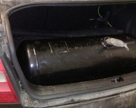 Митничари откриха марихуана скрита в газова бутилка на автомобил
