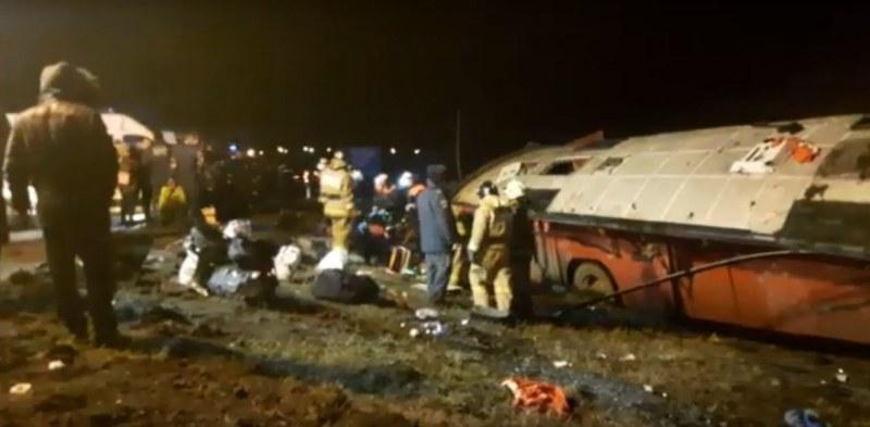 Тежка автобусна катастрофа в Русия, има загинали