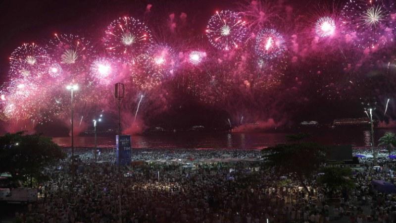 Невероятните 3 милиона души посрещнаха Нова година на Копакабана