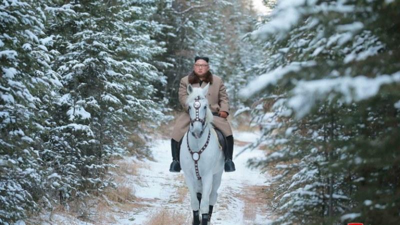 Ким Чен Ун отново яхна бял кон. Защо?