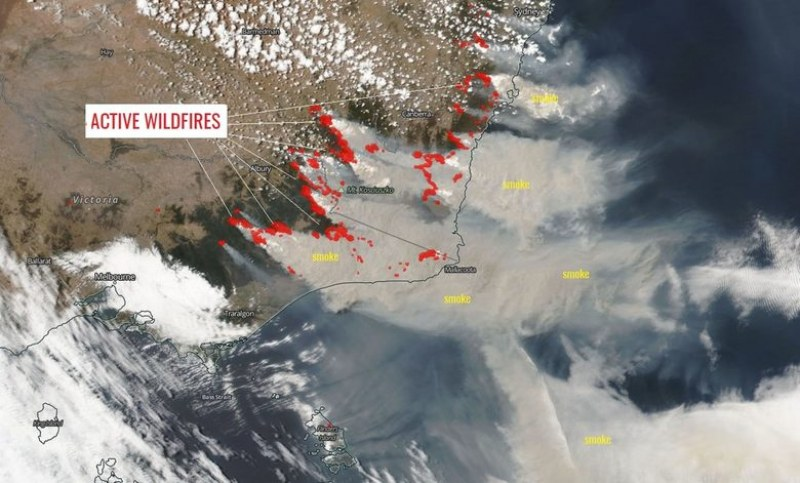Огромните пожари създават собствен климат в Австралия