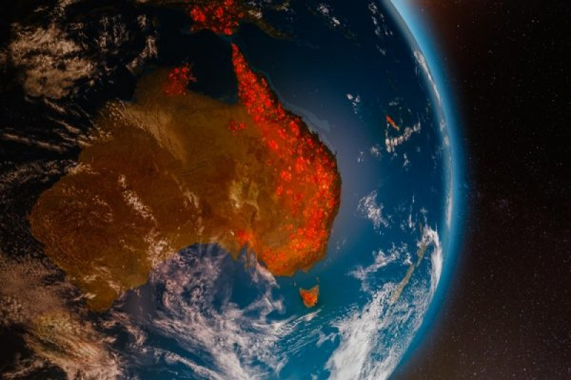 Димът от пожарите в Австралия стигна до Чили и Аржентина