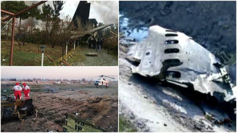 Украински самолет се разби в Иран! Над 180 души са загинали