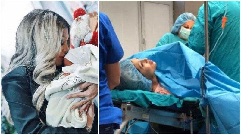 Джулиана Гани качи видео от родилното
