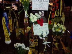Семейството на Тоско бе на бдението в Солун в негова памет
