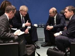 Борис Джонсън и Владимир Путин на първа среща, не успяха да се разберат
