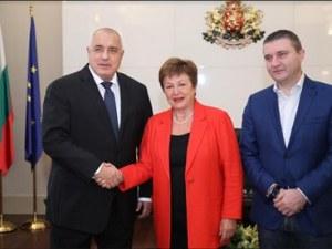 Борисов похвали българската икономика пред Кристалина Георгиева