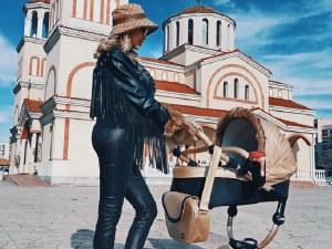 Джулиана Гани изведе бебето на разходка в Пловдив