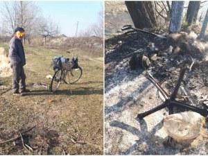 Спипаха мъж да гори гуми край Марица