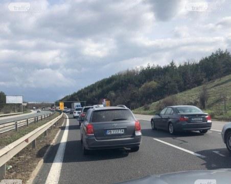 Ограничават движението по автомагистрала
