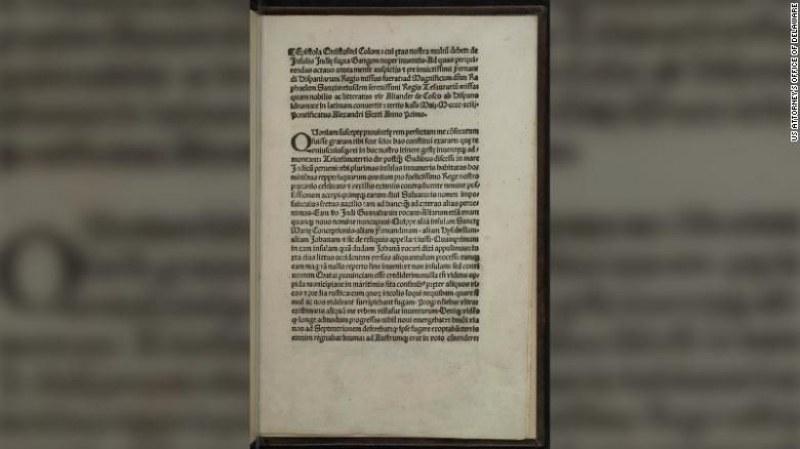 ФБР откри откраднато копие на писмо на Христофор Колумб