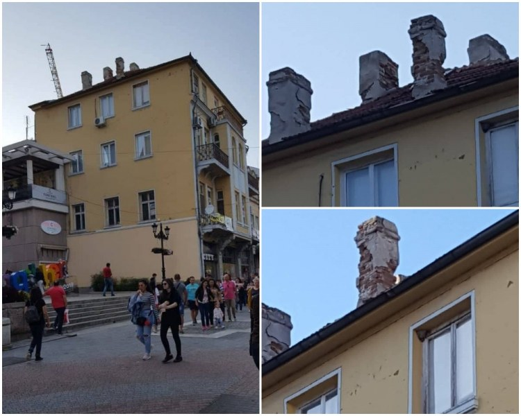 Опасни късове мазилка падат на главата на Мильо в центъра на Пловдив