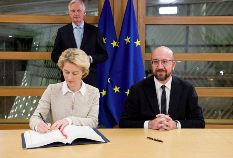 Подписаха споразумението за Brexit, обявиха точния час за напускането на Великобритания