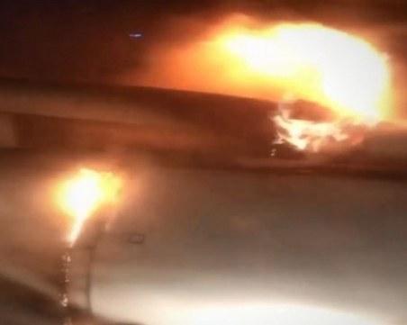Ирански самолет се запали по време на полет