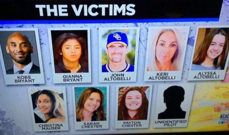 Идентифицираха 9-те жертви от катастрофата, довела до гибелта на Коби и дъщеря му