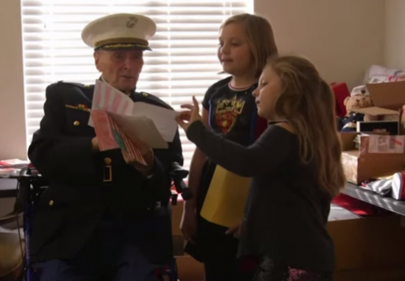 104-годишен военен ветеран получи 70 хиляди валентинки