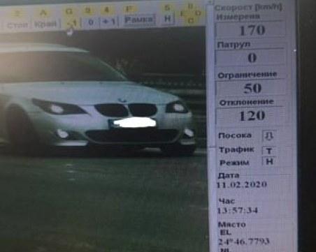 Нов скоростен рекорд в Пловдив! Младеж се сдоби с глоба, по-голяма от кметска заплата