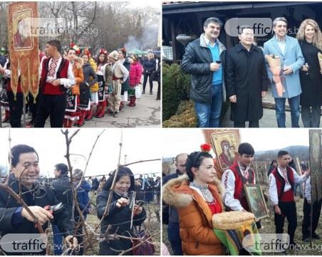 Росен Плевнелиев и китайският посланик вдигнаха наздравица в Брестовица