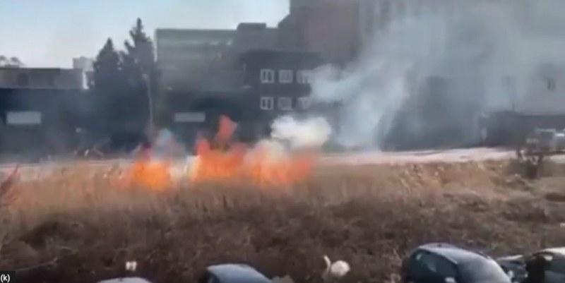 Пожар на Карловско шосе! Карайте внимателно, в района е много задимено
