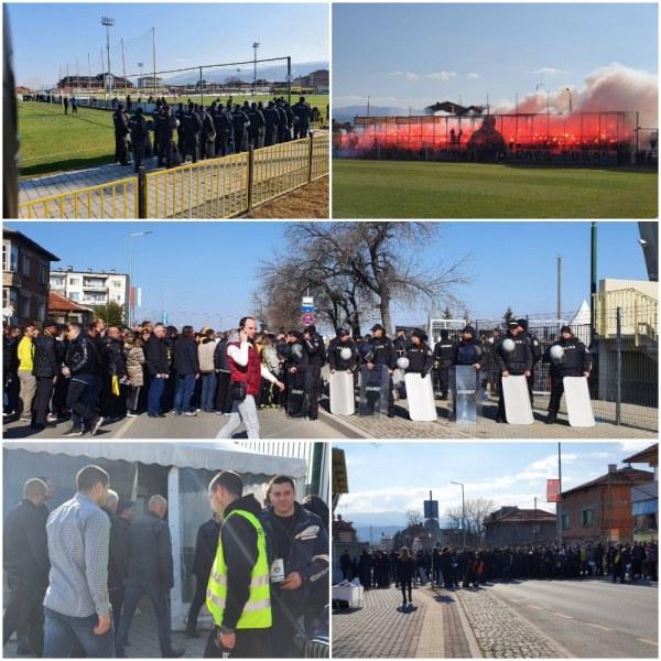 За първи път: Само спецполицаи и жандармерия на стадиона в Коматево! Резултатът - нито един инцидент