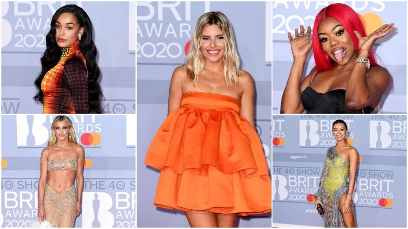 Колоритни и секси рокли се разходиха по цветния килим на наградите БРИТ