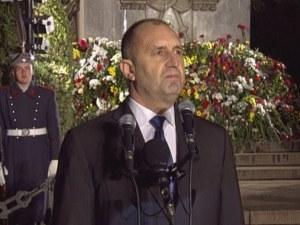 Румен Радев: Време е да спрем да търсим утеха в историята