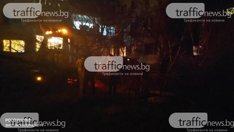Мъж се вряза в блок в Пловдив! ВИДЕО