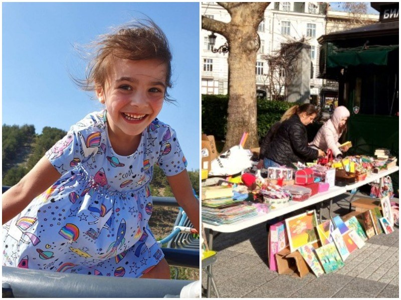 Пловдивчани продават сувенири, играчки и ръчно изработени мартенички в помощ на болно дете